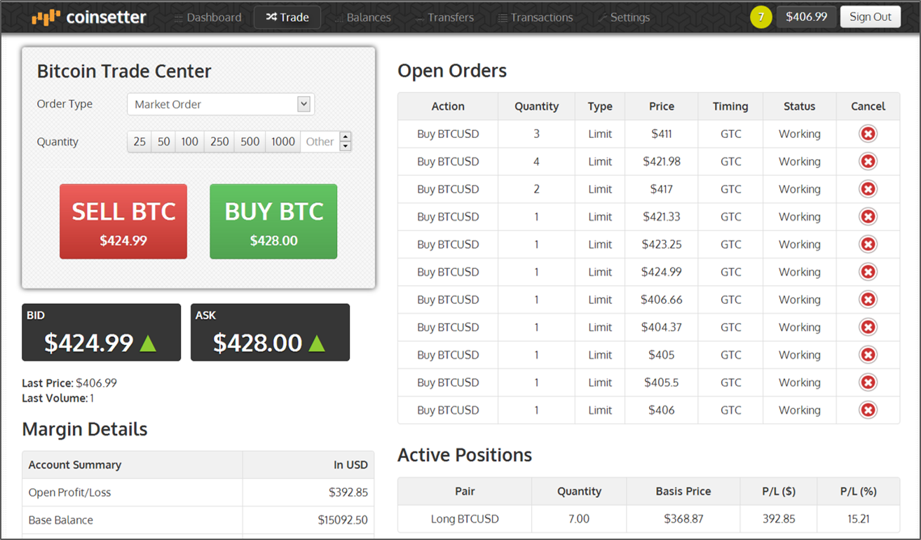 Trading Up: Coinsetter   The Only NYC-Based Bitcoin Trading Platform