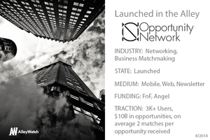 The Opportunity Network: The Next Step Up from Social Networks