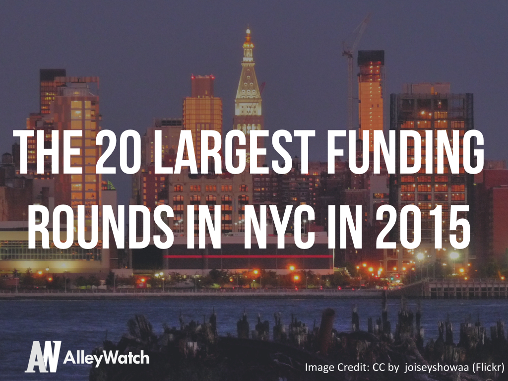 The 20 Largest Funding Rounds in NYC 2015.001