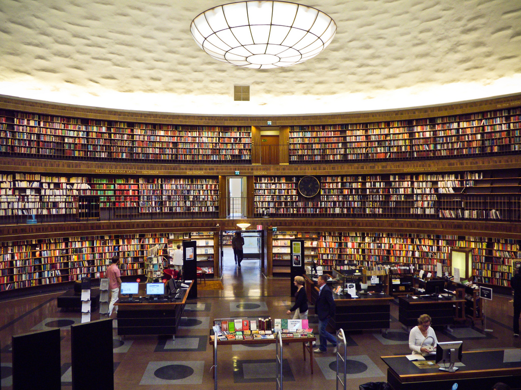 We found out about this magical library from my Wallpaper City Guide for Stockholm. There's something beautiful about piles and piles of books and my inner compulsive sorter took great satisfaction in knowing that they were all perfectly categorized and laid out.