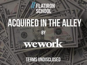 NYC Coding Startup Flatiron School Acquired by WeWork